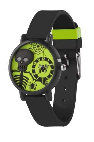 Tikkers Kinder-Armbanduhr Analog silikon schwarz TK0069