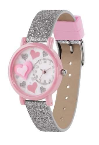 Tikkers Kinder-Armbanduhr Analog Kunststoff Silber TK0073