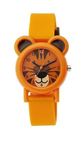 Tikkers Unisex-Armbanduhr Analog Quarz Silikon Orange TK0090 Strap