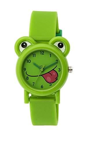 Tikkers Unisex Armbanduhr Analog Silikon gruen, TK0094