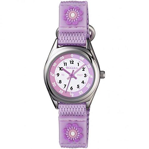 tk0120 Tikkers Maedchen Teach The Time Klettverschluss armbanduhr