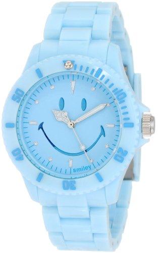 Smiley Happy Time Unisex Armbanduhr Analog blau WGS PPBV01