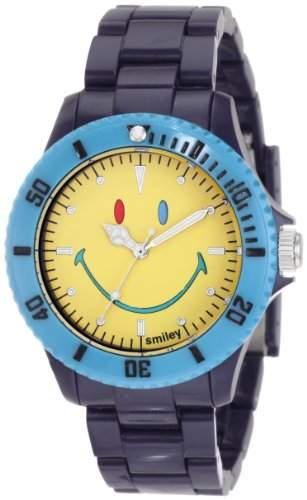 Smiley Happy Time Unisex-Armbanduhr Analog dunkelblau bunt WGS-CBBV01