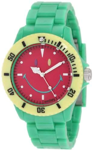 Smiley Happy Time Unisex-Armbanduhr Analog gruen bunt WGS-CBGV01