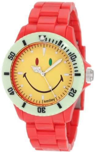 Smiley Happy Time Unisex-Armbanduhr Analog rot bunt WGS-CBRV01