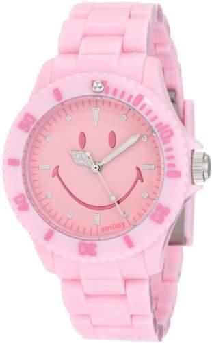 Smiley Happy Time Unisex-Armbanduhr Analog rosa WGS-PPPKV01