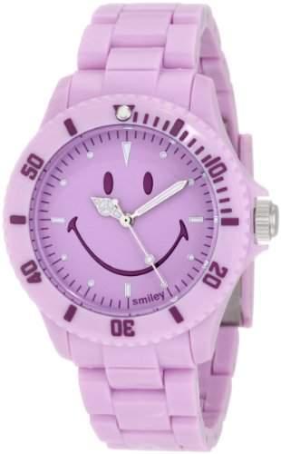 Smiley Happy Time Unisex-Armbanduhr Analog violett WGS-PPPLV01
