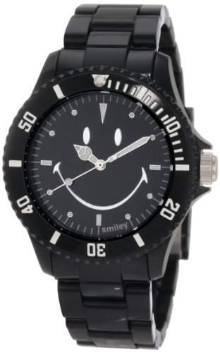 Smiley Happy Time Unisex-Armbanduhr Analog schwarz WGS-SOBV01