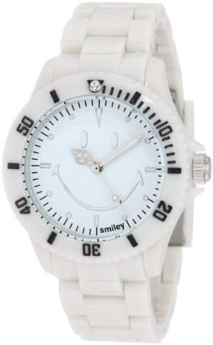 Smiley Happy Time Unisex-Armbanduhr Analog weiss WGS-SOWV01