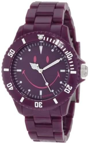 Smiley Happy Time Unisex-Armbanduhr Analog violett WGS-UDMV01