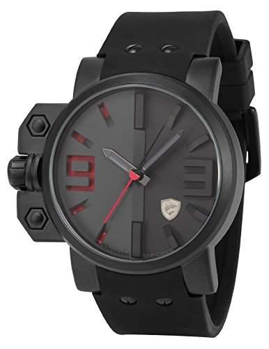 Shark Herren Armbanduhr XXL Silikon Uhrband SH172