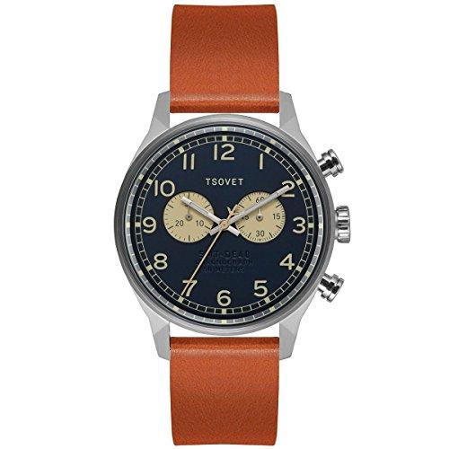 Tsovet svt de40 Armbanduhr Edelstahl Navy Tan One Size