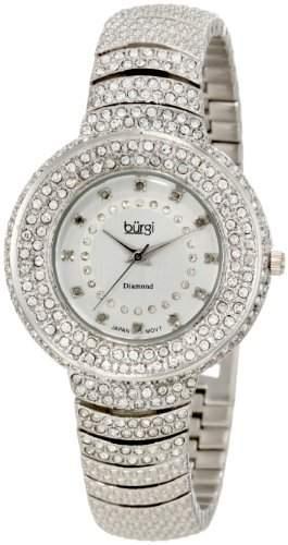 Burgi Damen-Armbanduhr Diamond Accent Kristall Fashion