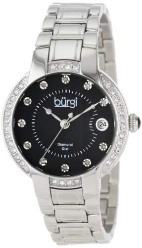Burgi Damen-Diamond Armband DATUM EDELSTAHL ARMBANDUHR