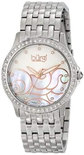 Burgi Damen-Armbanduhr Analog Display Swiss Quartz Silber