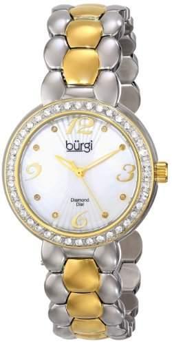 Burgi Damen-Armbanduhr Analog Display Swiss Quarz Zwei Ton