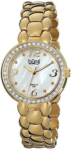 Burgi Damen-Armbanduhr Analog Display Swiss Quarz Gold