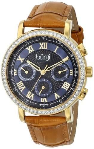 Burgi Damen-Armbanduhr Analog Display Swiss beige Quarz