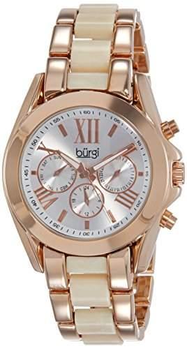 BURGI Damen-Armbanduhr BUR094RG Analog Quarz