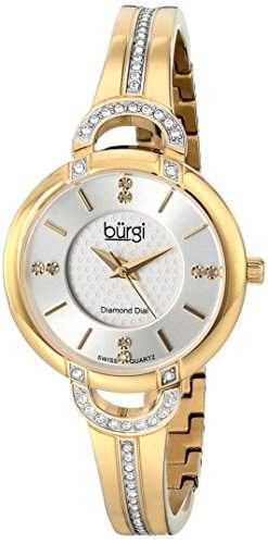 BURGI Damen-Armbanduhr Woman Analog Quarz BUR105YG