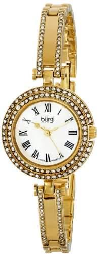 Burgi Damen-Swiss Quarz Kristall Perlmutt Necklaces Halskette Armband Armbanduhr