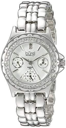 Burgi Damen-Armbanduhr Analog Display silber Quarz
