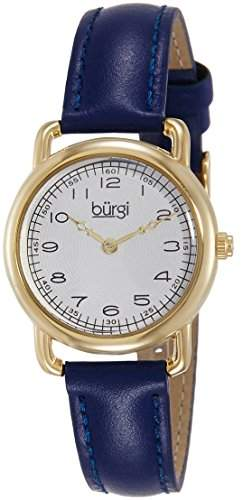 Burgi Damen-Armbanduhr Analog Display Quarz blau