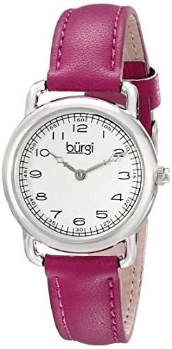 Burgi Damen-Armbanduhr Analog-Display Quarz violett