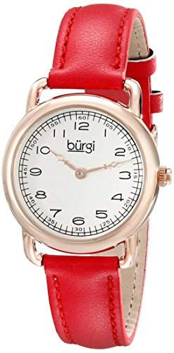 Burgi Damen-Armbanduhr Analog Display Quarz rot