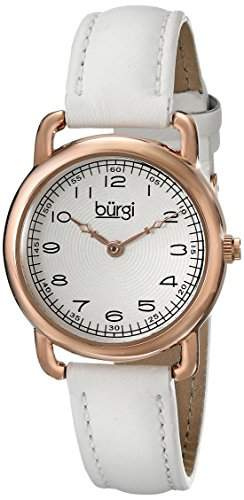 Burgi Damen-Armbanduhr Analog Display Weiss Quarz