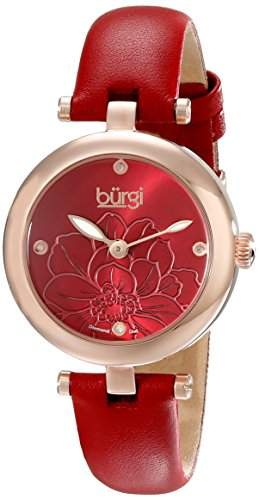 Burgi Damen--Armbanduhr Woman Analog Quarz BUR128RD