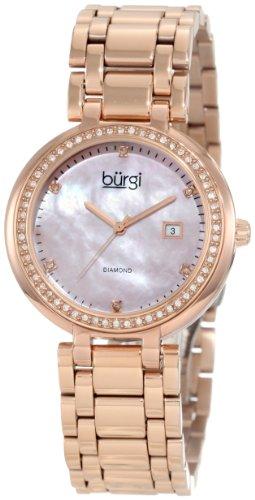 Burgi Damen bu55rg Swiss Quarz Diamant Armband Armbanduhr