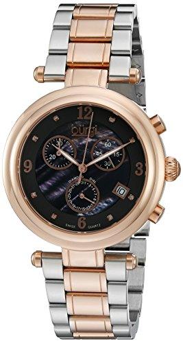 Burgi Damen bur080rg Analog Display Swiss Quarz Zweifarbige Armbanduhr