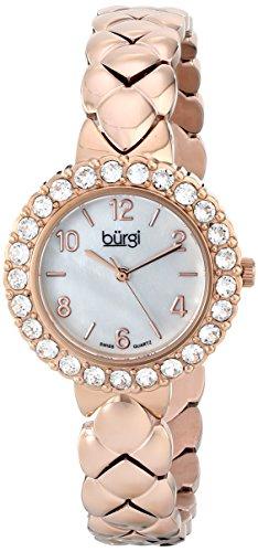 Burgi Damen bur113rg Analog Display Swiss Quartz Rose Gold Watch