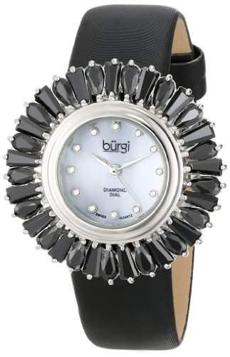 Burgi Damen Analog Display Japanisches Quartz Black Watch