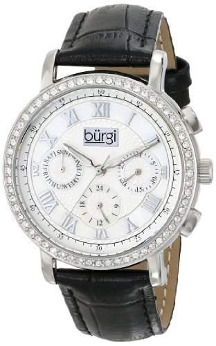 Burgi Damen Analog Display Swiss Quartz Black Watch