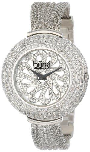 Burgi Crystal Mesh Analog Quarz BUR051SS