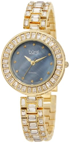 Burgi Mother Of Pearl Analog Quarz BUR062YG