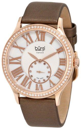 Burgi Damen bu56rg Swiss Quarz Diamant Armbanduhr