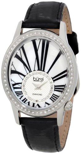 Burgi Damen bur058ss Swiss Quarz Diamant Armbanduhr