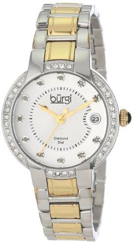 Burgi Damen Diamond Armband DATUM EDELSTAHL ARMBANDUHR