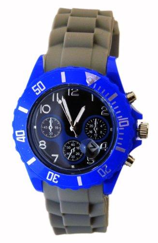 Armbanduhr Chrono Stil Blau K322