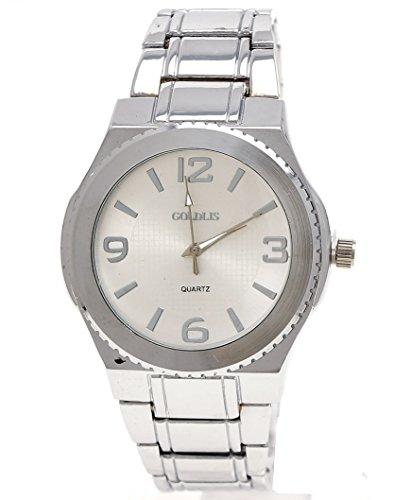 Elegante Herren Armband Uhr in Silber