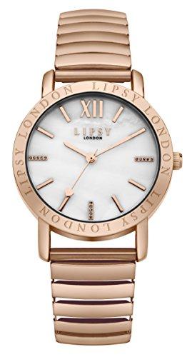 Lipsy Damen Armbanduhr Analog Quarz SLP001RGM