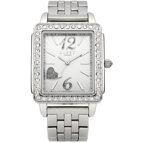 Lipsy London Watches Womens Square Crystal Bezel Bracelet Watch