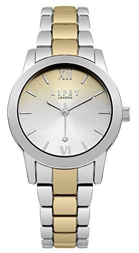 Lipsy slp004gsm Damen Edelstahl Gold Silber Armbanduhr