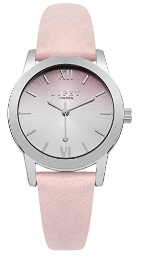 Lipsy slp004p Damen Rosa Zifferblatt Pink Leder Strap Armbanduhr