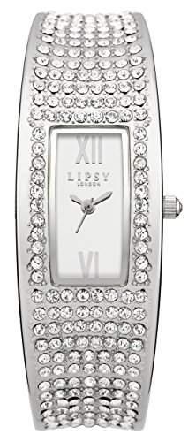 Lipsy Damen Quarzuhr mit Silber Zifferblatt Analog-Anzeige und Silber Legierung Armband lp119