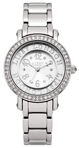 Lipsy Damen Quarzuhr mit Silber Zifferblatt Analog-Anzeige und Silber Armband lp157