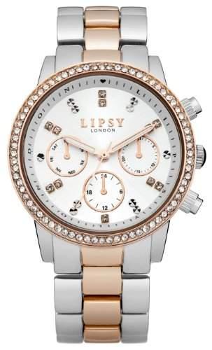 LIPSY Damen-Armbanduhr Analog Quarz Edelstahl LP161